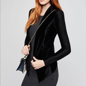 Bcbg velvet tuxedo jacket